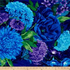 Designed by Chong-A Hwang for Timeless Treasures, this fabric is perfect for quilting, craft projects, apparel and home decor accents. Colors include shades of blue, shades of purple and shades of green.