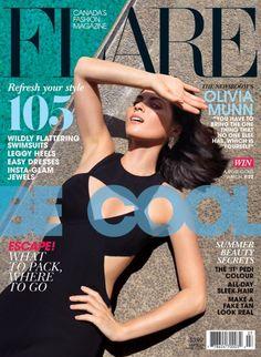 #FLARE #magazine July Cover Girl Olivia Munn;  Photo by Autumn De Wilde