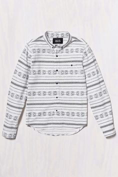 Native Youth Geo Pattern Button-Down Shirt - Urban Outfitters