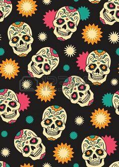 Transparente avec les crânes mexicains Banque d'images - 18995662