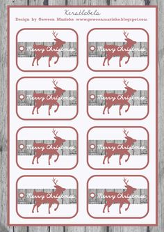 Free printable christmas label