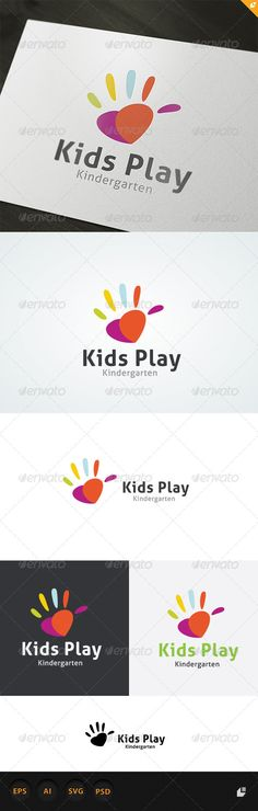 Kids Play Logo  #GraphicRiver         This logo design for all creative business. Consulting, Excellent logo,simple and unique concept.  Logo Template Features   AI,EPS,SVG,PSD with 300PPI full editable  CMYK  100% Scalable Vector Files  Easy to edit color / text  Ready to print  Font information at the help file   	 If you buy and like this logo, please remember to rate it. Thanks!     Created: 16May13