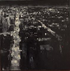 """""""Royal Street from the Hotel Monteleone"""" by Sean Friloux  Oil on Canvas 36""""x36"""""""