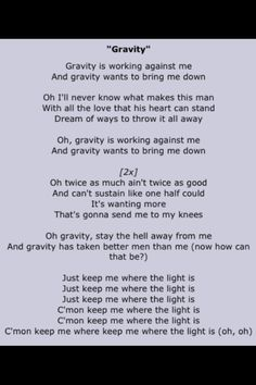 Gravity is one of my favorite songs by John Mayre