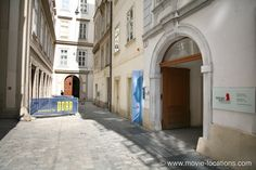 The Night Porter Film Location Mozarthaus, Domgasse With old memories stirred up, Lucia (Charlotte Rampling) meanders distractedly through the city, briefly stopping in at the the home of Mozart, now open as a museum.