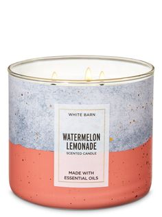 Scented Candles - White Barn Watermelon Lemonade Candle – Bath And Body Works Best Picture For Skincare fot - Bath Candles, 3 Wick Candles, Scented Candles, Candle Jars, Bath Body Works, Best Smelling Candles, Watermelon Lemonade, Candle Maker, Luxury Candles
