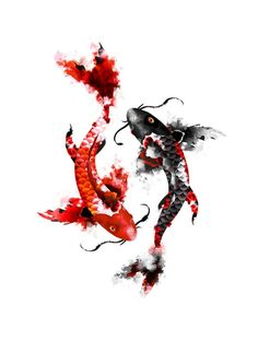 2017 trend Watercolor tattoo - koi.. this would be a beautiful tattoo *~♥*Jo*♥~* #art #design...