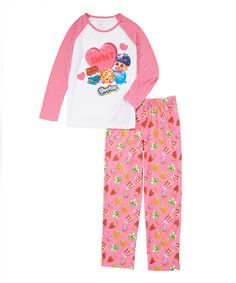Look at this #zulilyfind! Shopkins Pink 'Sweet' Pajama Set - Girls by Shopkins™ #zulilyfinds