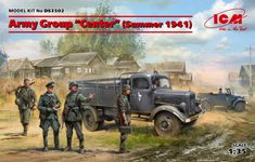 Scalehobbyist.com: German Army Group Center Set (Summer 1941) by ICM Models Plastic Model Kits, Plastic Models, Tamiya Models, Paratrooper, German Army, Paint Schemes, Military Vehicles, Scale, Action