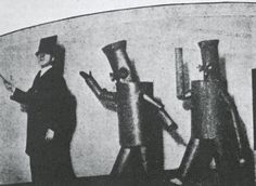Costumes by Fortunato Depero for his ballet 'Machine of 3000' (1924