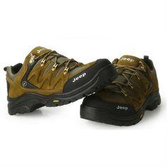 Jeep Men Leather Outdoor Hilking Shoes Free Bonus A Pair of Socks - FixShippingFee- - TopBuy.com.au