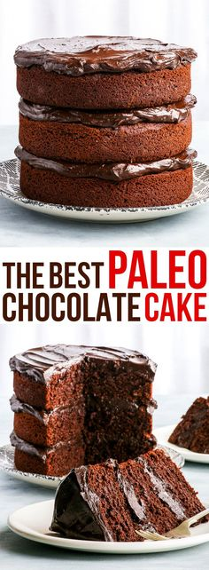 The Best Paleo Chocolate Cake. Ever. {gluten, dairy, nut, soy & refined sugar free, paleo} - Prepare to be blown away – by this healthy paleo chocolate cake. It's decadent, it's chocolatey and I bet you can't tell it's also gluten, dairy and refined sugar free! Super easy and quick to make, it's the perfect mid-week chocolatey dessert. With a healthy vegan avocado chocolate ganache.