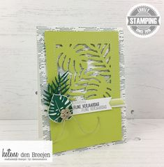 Stampin'Up! Tropical escape, Stampin'Up! YouTube, Stampin'Up! tutorial