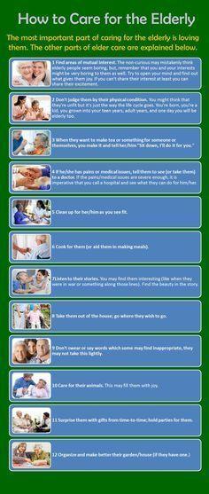 How to Care for the Elderly Infographic #elderlycareideas