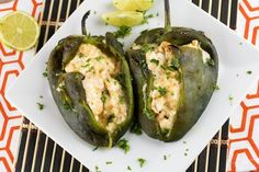 Cream Cheese Stuffed Poblano Peppers A recipe for grilled poblano peppers, stuffed with cream cheese, cheddar, garlic and spices, then grilled. So delicious. Vegetarian Cheese, Vegetarian Recipes, Cooking Recipes, Sauce Recipes, Keto Recipes, Party Recipes, Diabetic Recipes, Dinner Recipes, Healthy Recipes