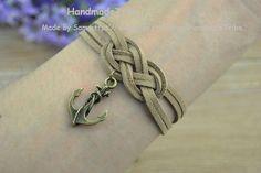 Sailor knot Bracelet Infinity knot Bracelet by HandmadeTribe, $4.59