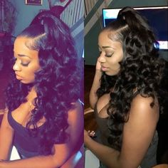 Black girls hairstyles for prom black girl hairstyles for prom aw Sew In Hairstyles, My Hairstyle, Black Girls Hairstyles, Trendy Hairstyles, Black Weave Hairstyles, Hairstyle Ideas, Wedding Hairstyles, Birthday Hairstyles, Hairstyles Pictures