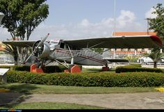 """Metal Aircraft Corporation G-2W Flamingo (NC9487, c/n 11) """"El Rio Caroni"""" at Ciudad Bolivar airport. It was used by """"Jimmie"""" Angel during his gold exploration at South of Venezuelan m. On October 9th, 1937 Jimmie crashed landed above the """"El Salto Angel"""" (Angel Falls, previously rediscovered by him on November 16th, 1933) when its wheels sunk into marshy ground, the plane was abandoned and  rest in the place until 1970 when was saved and restored."""