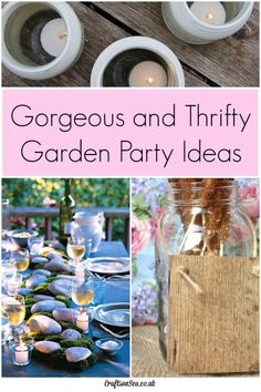 These thrifty garden party ideas are all gorgeous looking without braking the bank! Fun, thrifty and DIY..