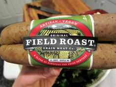 Yuuuuuum - Field Roast Vegan Smoked Apple and Sage Sausage Links   I am eh on many meat analogues especially beyond transitioning between diets BUT these are in a different class! Yum yum yum http://www.fieldroast.com/products/retail/field-roast-sausages/
