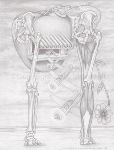 The Dr. Applehead Squadron  #anatomy #surrealart #fantasyart #pencildrawing #blackandwhite