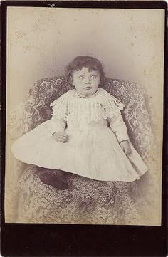 """""""Victorian Post Mortem"""". To me this child looks alive - though a little startled, maybe by the flash."""