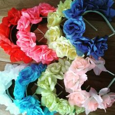 cumple Home Decor home decor trends Luau Birthday, Birthday Favors, Flower Crown, Flower Art, Diy And Crafts, Crafts For Kids, Mexican Party, Fiesta Party, Party Supplies