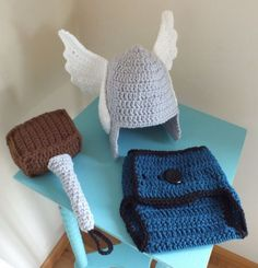 Make Your Baby a Hero With This Crocheted Thor Baby Set - Neatorama