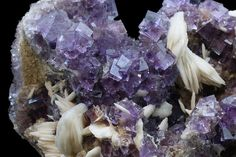 Fluorite and Barite Crystals