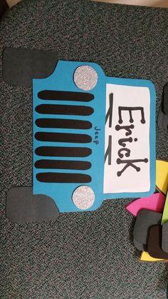 Dorm door decorations resident assistant cute ideas 24 ideas for 2019 Door Name Tags, Ra Door Tags, Classroom Door, Classroom Themes, Cubby Tags, Dorm Door Decorations, Jeep Doors, Sport Basketball, Dorm Room Doors