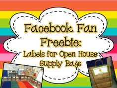 For easy organization during meet the teacher/open house/orientation, I set up… Supply Labels, Beginning Of Year, Meeting Table, Meet The Teacher, Primary Education, Open House, Bag Making, A Table, Back To School