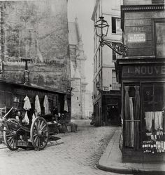 Rue de la Montagne Sainte-Germaine, par Charle Marville photographe de la ville de Paris.