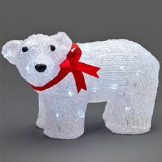 konstsmide 6124 203 small led polar bear standing outdoor christmas decorationsgarden decorationschristmas lightspolar
