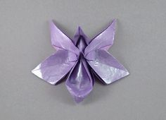 Munich Orchid by Michael LaFosse  Diagrams in Origami Art  Folded from a rectangle of tissue+Unryu