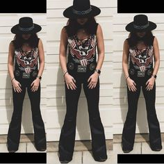Cute Cowgirl Outfits, Western Outfits Women, Cute Country Outfits, Cute Outfits, Rock Outfits, Outfits With Hats, Fashion Outfits, Fashion Clothes, Teen Fashion