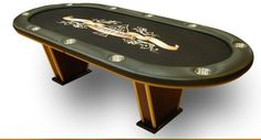 "The Nationwide Gaming PTV Texas Hold'em Poker Table will make your poker room look a little more stylish. It comes with the V legs made with natural oak wood for solid support. The table has ¼"" padding and removable armrest. The playing board is made of 3/4'"" birch plywood and it is backed by ¾"" plywood for extra support. You also have the option of customizing your playing surface with custom felt or standard felt. The custom felt layouts are full color and high resolution."