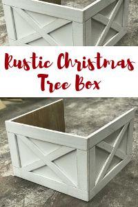 Rustic Christmas Tree Box - Farmhouse Christmas - Rustic Christmas Tree Ideas - Christmas Tree Skirt - Christmas Tree - Farmhouse Christmas Tree - Shabby Christmas Tree