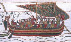 Bateau normand du XI°s (tapisserie de Bayeux)