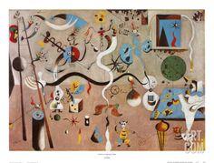 Carnival of Harlequin Art Print by Joan Miró at Art.com