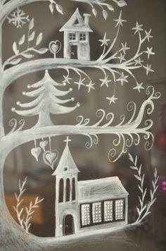 incredible everywhere and nowhere - Christmas Holidays - Noel Christmas Makes, Noel Christmas, Winter Christmas, Christmas Crafts, Christmas Window Display, Christmas Window Decorations, Holiday Decor, Maila, Navidad Diy