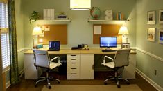 Like the simplicity of this dual office set up