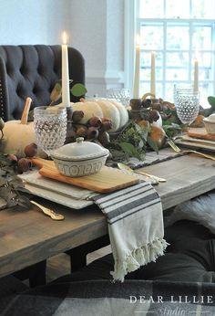 Thanksgiving Table Setting - Dear Lillie Studio