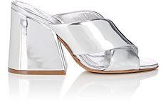 MAISON MARGIELA | Angled-Heel Specchio Leather Mules #Shoes #Heels #MAISON MARGIELA