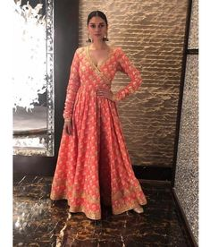looks stunning in her Tammana Anarkali for promotions Call us on 07931 999111 to order this piece Indian Gowns Dresses, Pakistani Dresses, Flapper Dresses, Indian Wedding Outfits, Indian Outfits, Indian Clothes, Patiala Suit Wedding, Angrakha Style, Indian Designer Suits