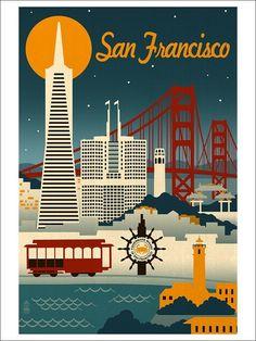 Retro Skyline | San Francisco, California