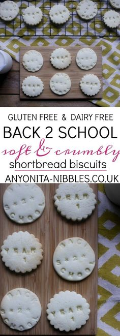 Gluten free and dairy free back to school shortbread biscuits recipe