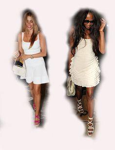 white summer dress, Sofia Vergara VS Naomi Campbell fashion diva who-wore-it-better celeb celebrity