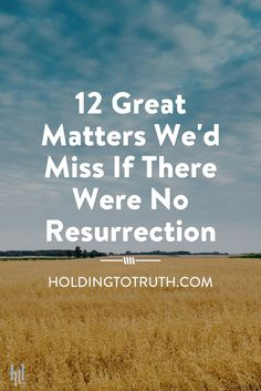 As believers in Christ we may take the resurrection of Christ for granted considering it merely an event or doctrine of our Christian faith. However, the great truth of resurrection is absolutely vital to our Christian life and should be something we experience and enjoy every day. This post will help you to appreciate Christ's resurrection much more and hopefully lead you to enjoy the reality of resurrection every day. ‪#‎resurrection‬