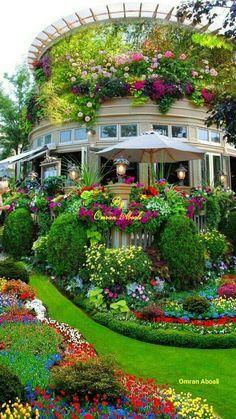 47 Ideas De Casas Rodeadas De Flores Jardines Bonitos Jardines Jardines Hermosos