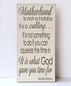 Take a look at the Cream & Brown 'Motherhood' Wall Sign on #zulily today!